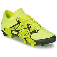 kengät Miehet Jalkapallokengät adidas Performance X 15.1 FG/AG Yellow