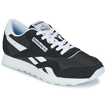 kengät Matalavartiset tennarit Reebok Classic CL NYLON Black / White