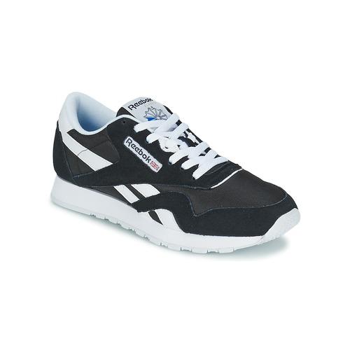 kengät Matalavartiset tennarit Reebok Classic CL NYLON Black / White