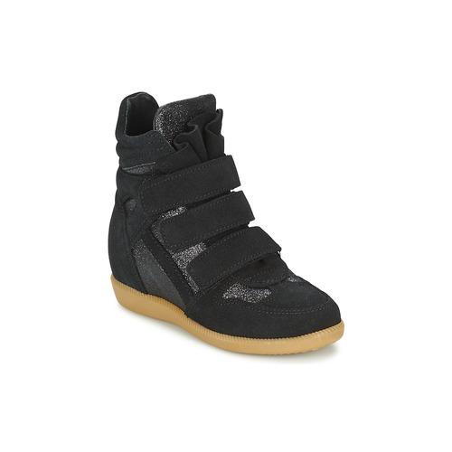 kengät Tytöt Korkeavartiset tennarit Acebo's MILLIE Black