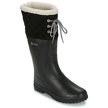 kengät Naiset Kumisaappaat Aigle POLKA GIBOULEE Black