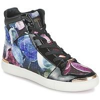 kengät Naiset Korkeavartiset tennarit Ted Baker MADISN Black / Multicolour