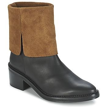 kengät Naiset Bootsit Miista KAMILA Black / Brown