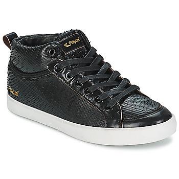 kengät Naiset Korkeavartiset tennarit Feiyue DELTA MID DRAGON Black