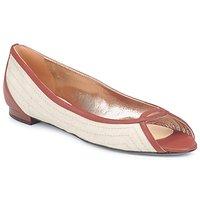 kengät Naiset Balleriinat Azzaro JOUR Beige / Kamelinruskea
