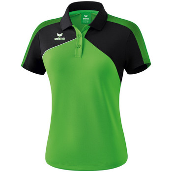 vaatteet Naiset Lyhythihainen poolopaita Erima Polo femme  Premium One 2.0 vert/noir/blanc