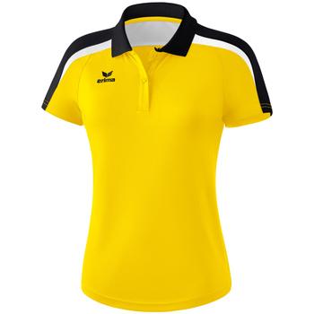vaatteet Naiset Lyhythihainen poolopaita Erima Polo femme  Liga 2.0 jaune/noir/blanc