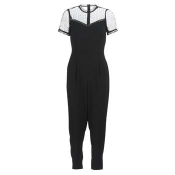 vaatteet Naiset Jumpsuits / Haalarit MICHAEL Michael Kors LACE YOKE JUMPSUIT Black