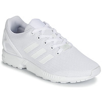 kengät Pojat Matalavartiset tennarit adidas Originals ZX FLUX J White