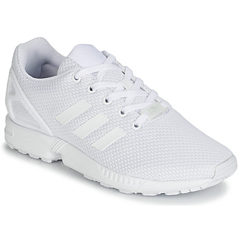kengät Lapset Matalavartiset tennarit adidas Originals ZX FLUX J White