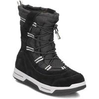 kengät Lapset Talvisaappaat Timberland Snow Stomper Pull ON WP Mustat