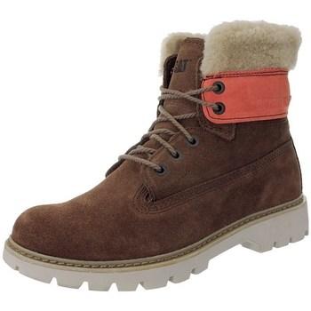 kengät Naiset Talvisaappaat Caterpillar Lookout Fur W Punainen, Beesit, Ruskeat