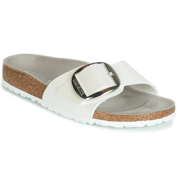 kengät Naiset Sandaalit Birkenstock MADRID BIG BUCKLE White