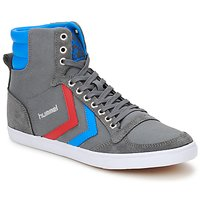 kengät Korkeavartiset tennarit Hummel TEN STAR HIGH CANVAS Grey / Blue / Red