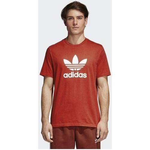 vaatteet Miehet Lyhythihainen t-paita adidas Originals Trefoil Punainen