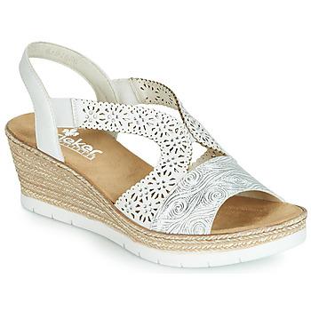 kengät Naiset Sandaalit ja avokkaat Rieker PASCALINE White