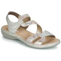kengät Naiset Sandaalit ja avokkaat Rieker AMAZU Hopea