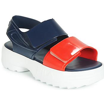 kengät Naiset Sandaalit ja avokkaat Melissa SANDAL + FILA Laivastonsininen / Red / White