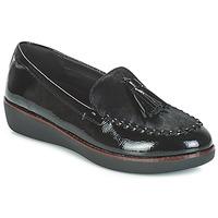kengät Naiset Mokkasiinit FitFlop PAIGE FAUX-PONY Black