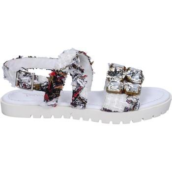 kengät Naiset Sandaalit ja avokkaat Ioannis sandali bianco tessuto strass BT873 Bianco