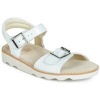 kengät Tytöt Sandaalit ja avokkaat Clarks Crown Bloom K White