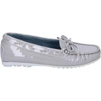 kengät Naiset Mokkasiinit K852 & Son mocassini grigio vernice BT967 Grigio