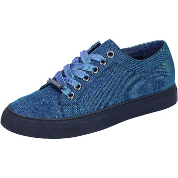 kengät Naiset Matalavartiset tennarit Sara Lopez sneakers blu tessuto BT995 Blu