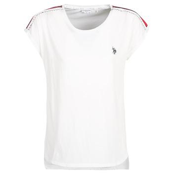 vaatteet Naiset Lyhythihainen t-paita U.S Polo Assn. JEWELL TEE SS White