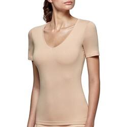 vaatteet Naiset Lyhythihainen t-paita Impetus Innovation Woman 8351898 144 Beige