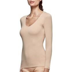 vaatteet Naiset T-paidat pitkillä hihoilla Impetus Innovation Woman 8361898 144 Beige