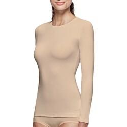 vaatteet Naiset T-paidat pitkillä hihoilla Impetus Innovation Woman 8368898 144 Beige