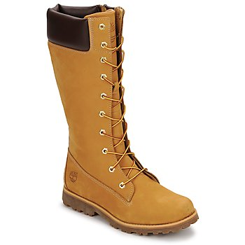 kengät Lapset Saappaat Timberland GIRLS CLASSIC TALL LACE UP WITH SIDE ZIP Cognac