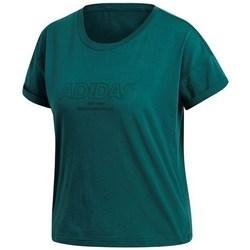vaatteet Naiset Lyhythihainen t-paita adidas Originals Ess Allcap Tee Vihreät
