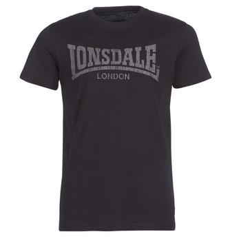 vaatteet Miehet Lyhythihainen t-paita Lonsdale LOGO KAI Black