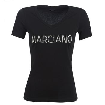 vaatteet Naiset Lyhythihainen t-paita Marciano LOGO PATCH CRYSTAL Black