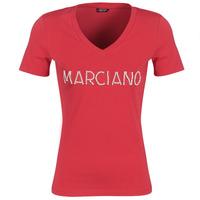 vaatteet Naiset Lyhythihainen t-paita Marciano LOGO PATCH CRYSTAL Red