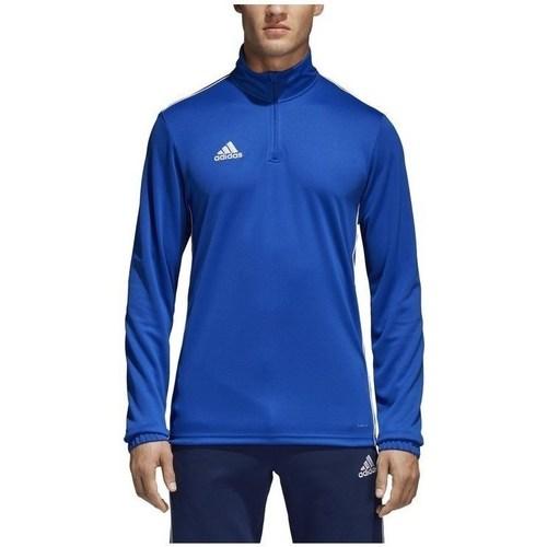 vaatteet Miehet T-paidat pitkillä hihoilla adidas Originals Core 18 Training Top Vaaleansiniset