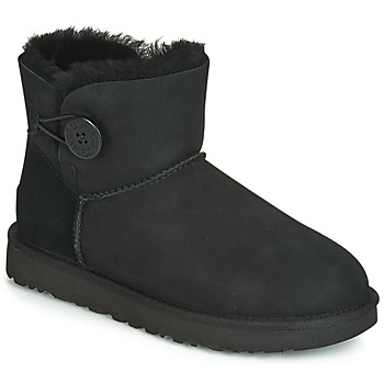 kengät Naiset Bootsit UGG MINI BAILEY BUTTON II Black