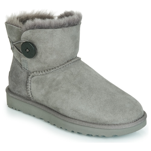 kengät Naiset Bootsit UGG MINI BAILEY BUTTON II Grey