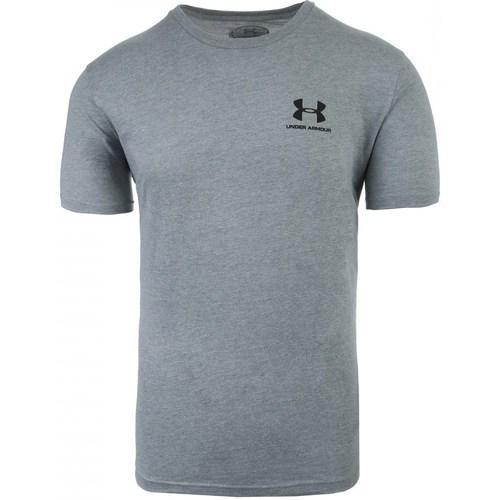 vaatteet Miehet Lyhythihainen t-paita Under Armour Sportstyle Left Chest Harmaat