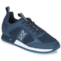 kengät Miehet Matalavartiset tennarit Emporio Armani EA7 BLACK&WHITE LACES U Blue
