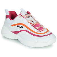 kengät Naiset Matalavartiset tennarit Fila RAY CB LOW WMN White / Pink / Orange