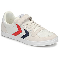 kengät Lapset Matalavartiset tennarit Hummel SLIMMER STADIL LEATHER LOW JR White
