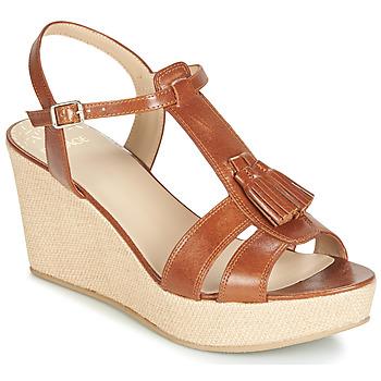 kengät Naiset Sandaalit ja avokkaat Bocage HERLE Cognac
