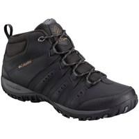 kengät Miehet Vaelluskengät Columbia Woodburn II Chukka Waterproof Mustat