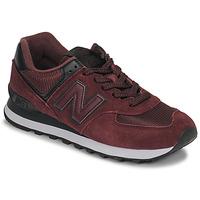 kengät Naiset Matalavartiset tennarit New Balance 574 Viininpunainen
