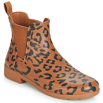 kengät Naiset Kumisaappaat Hunter ORG REFINED CHELSEA HYBRD PRNT Leopardi