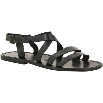 kengät Miehet Sandaalit ja avokkaat Gianluca - L'artigiano Del Cuoio 531 U NERO CUOIO nero