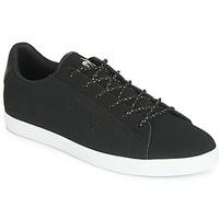 kengät Naiset Matalavartiset tennarit Le Coq Sportif AGATE NUBUCK Black / Hopea