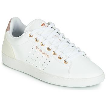 kengät Naiset Matalavartiset tennarit Le Coq Sportif COURTSTAR W BOUTIQUE White / Pink